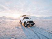 White Land Rover ready for an adventure driving experience